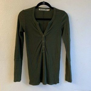 Michael Stars tunic henley long sleeve OS one size
